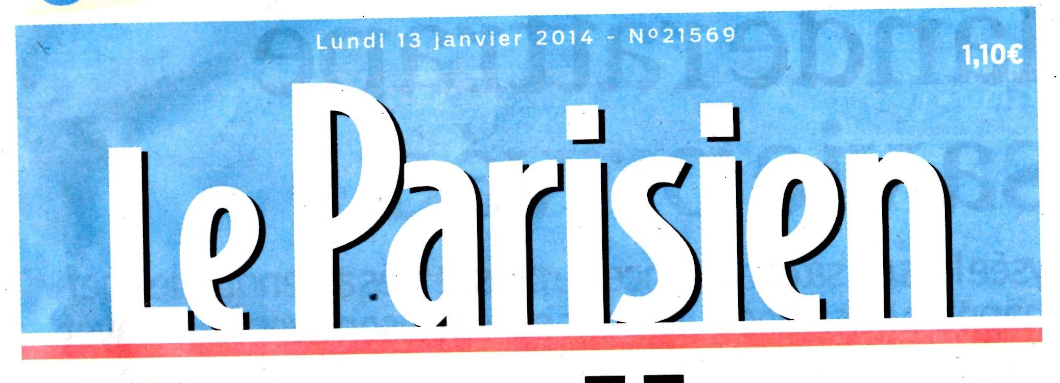 ARTICLE DE PRESSE 13 JANVIER 2014