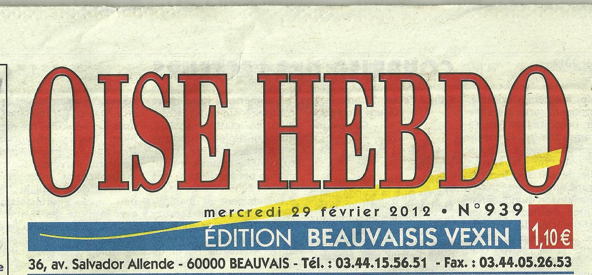 FFPA ARTICLE OISE HEBDO DU 29 02 2012 ENTETE0001