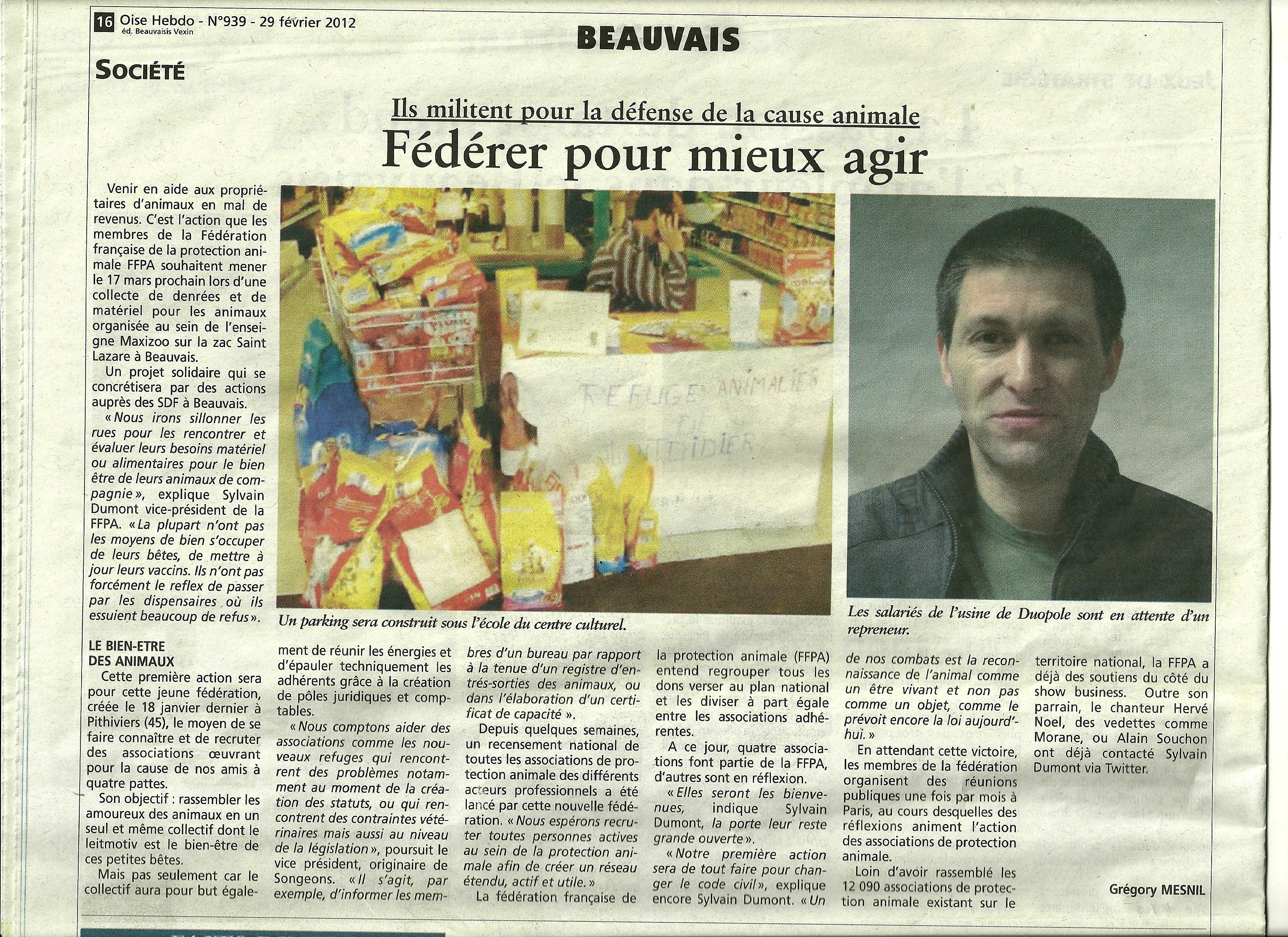 FFPA ARTICLE OISE HEBDO DU 29 02 20120001