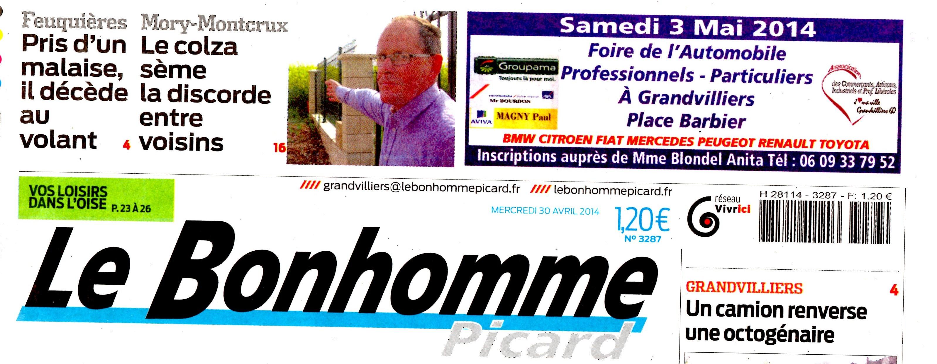 LE BOHOMME PICARD 30 AVRIL 2014