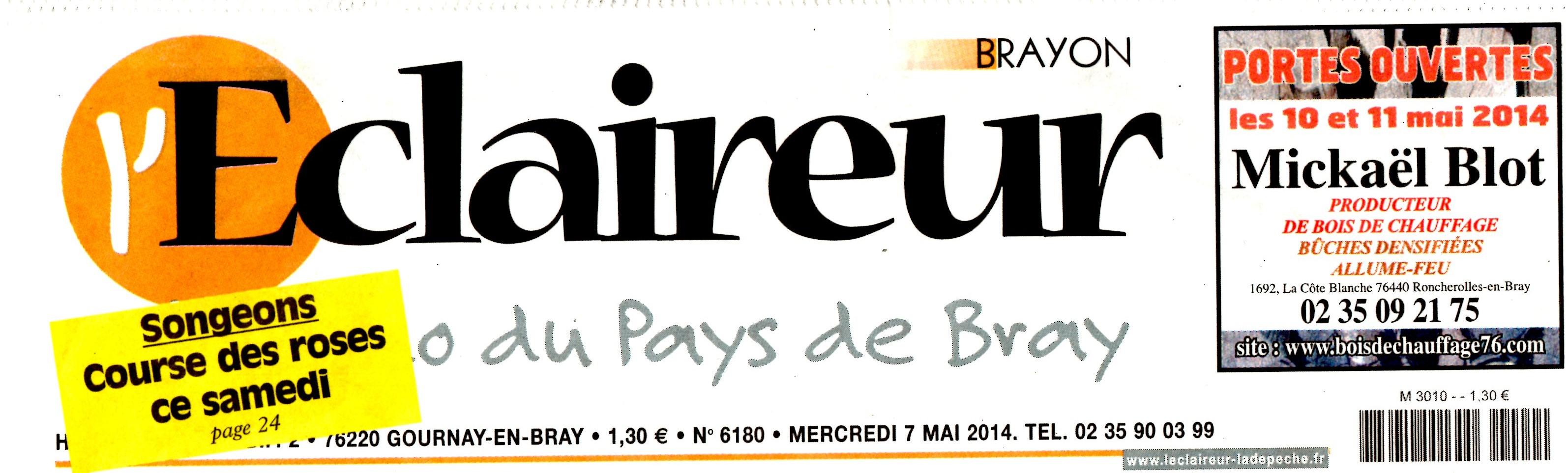 L'ECLAIREUR BRAYON  7 MAI 2014001
