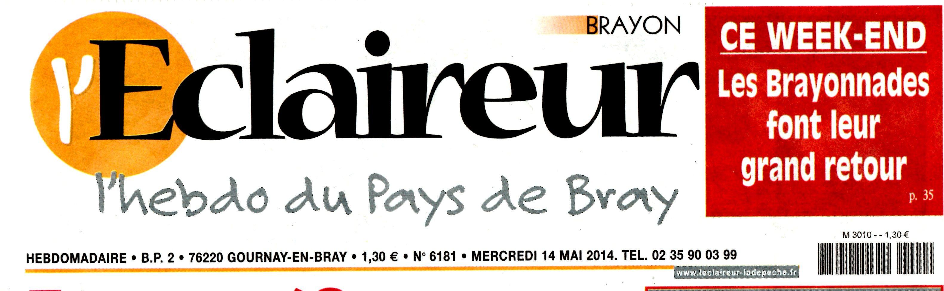 L'ECLAIREUR PAYS DE BRAY 14 MAI 2014 BETTY