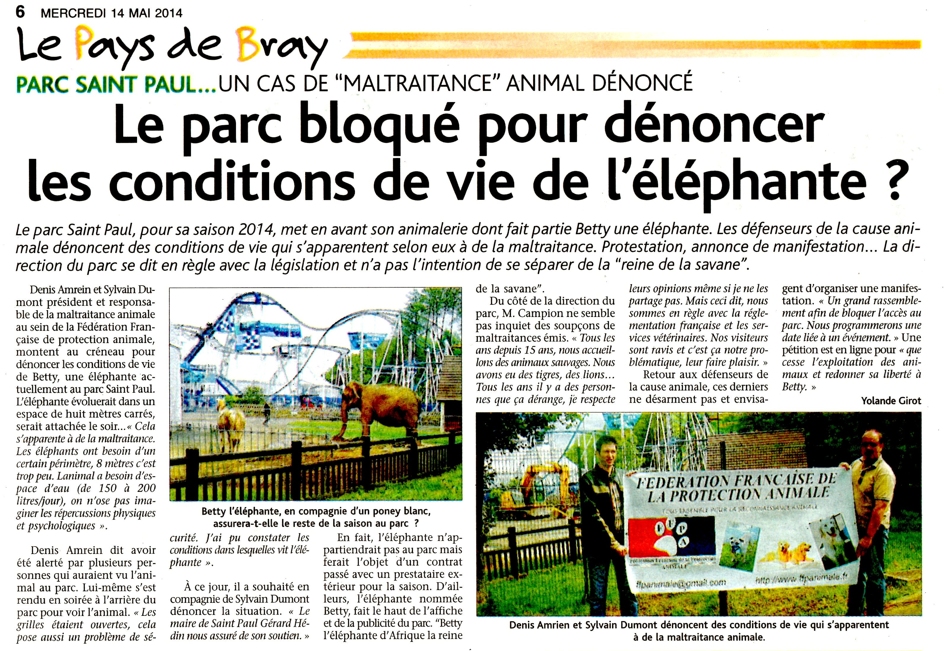 L'ECLAIREUR PAYS DE BRAY 14 MAI 2014 BEETY