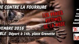 Marche contre la fourrure le 26 novembre 2016